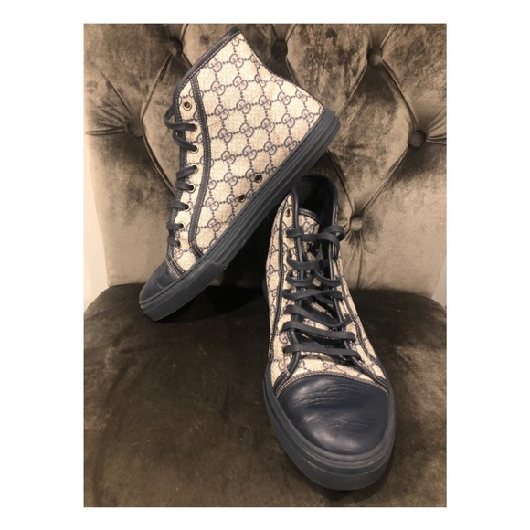 06bf814c1 Gucci Shoes | Mens High Top Gg Canvas Sneakers | Poshmark
